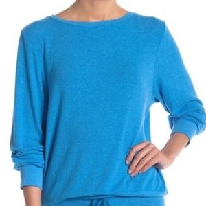 Wildfox Baggy Beach Jumper Wonderland Blue Small